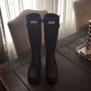 Women's Tall Matte Black Hunter Boots